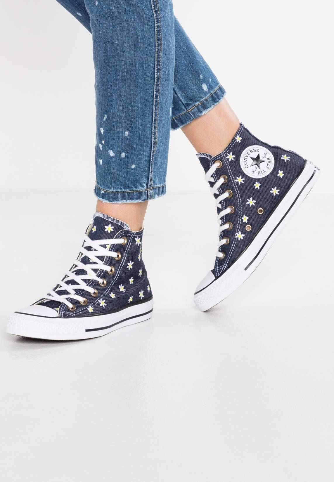 Converse Chuck Taylor All Star Sneaker High Navy Fresh Yellow White Sohle Kunststoff Decksohle Textil Innenmaterial Chuck Taylors Sneaker Sneaker High