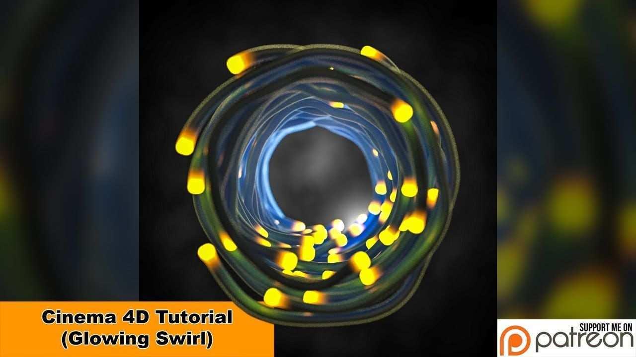 Glowing Swirl Cinema 4d Tutorial Spass Textur