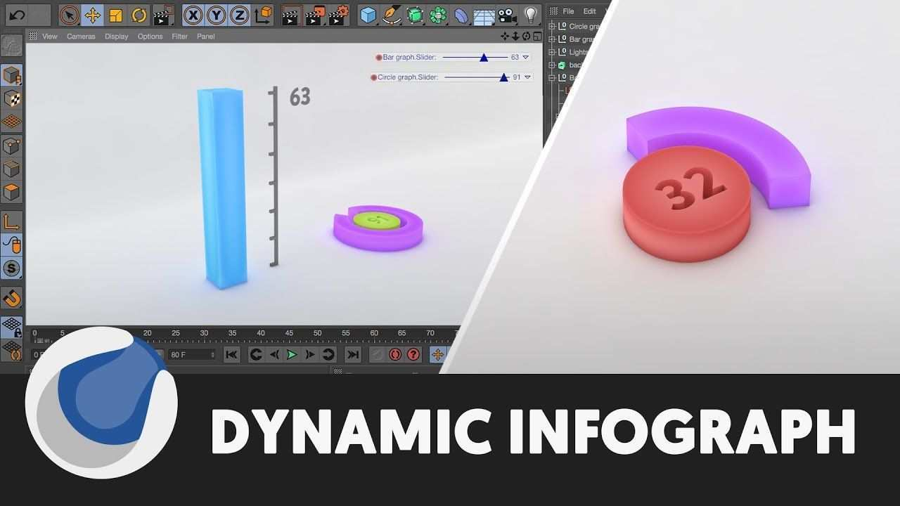 Dynamic Infographics Cinema 4d Tutorial Cinema 4d Tutorial Cinema 4d Infographic