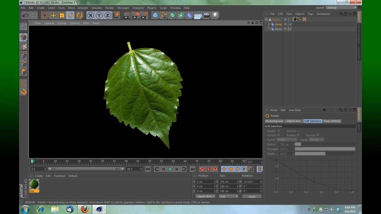 Cinema 4d Create A Leaf Fast And Easy Cinema 4d Tutorial Cinema 4d Cinema