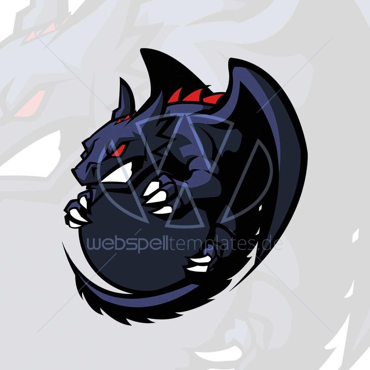 Webspelltemplates De Webspell Templatesvektor Drache Clan Logo Gaming Logo Maskottchen Maskottchen Drachen Logos
