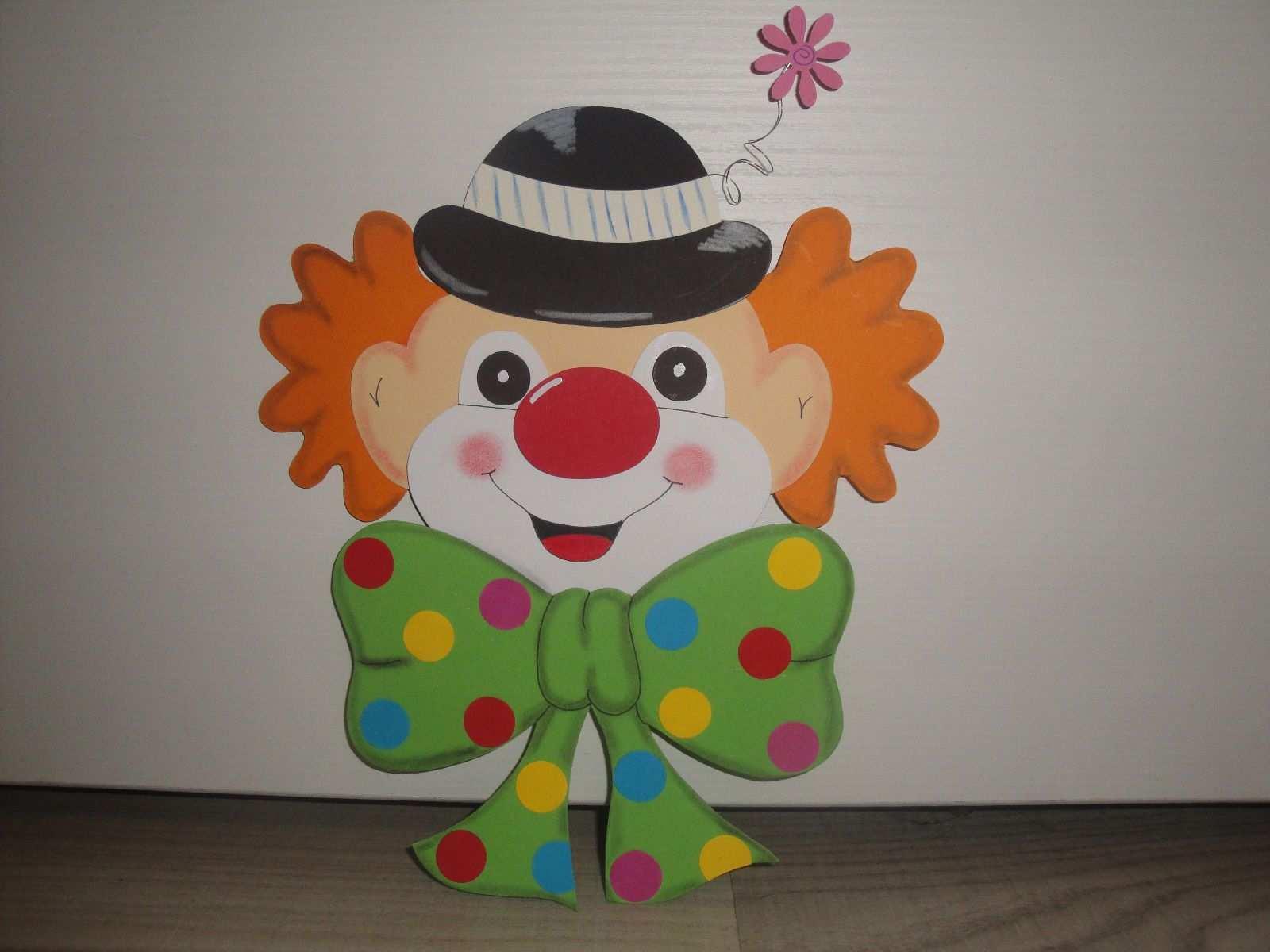 Tonkarton Fensterbild Clown Kopf Karneval Fasching Fasching Basteln Clown Basteln Fensterbilder Basteln