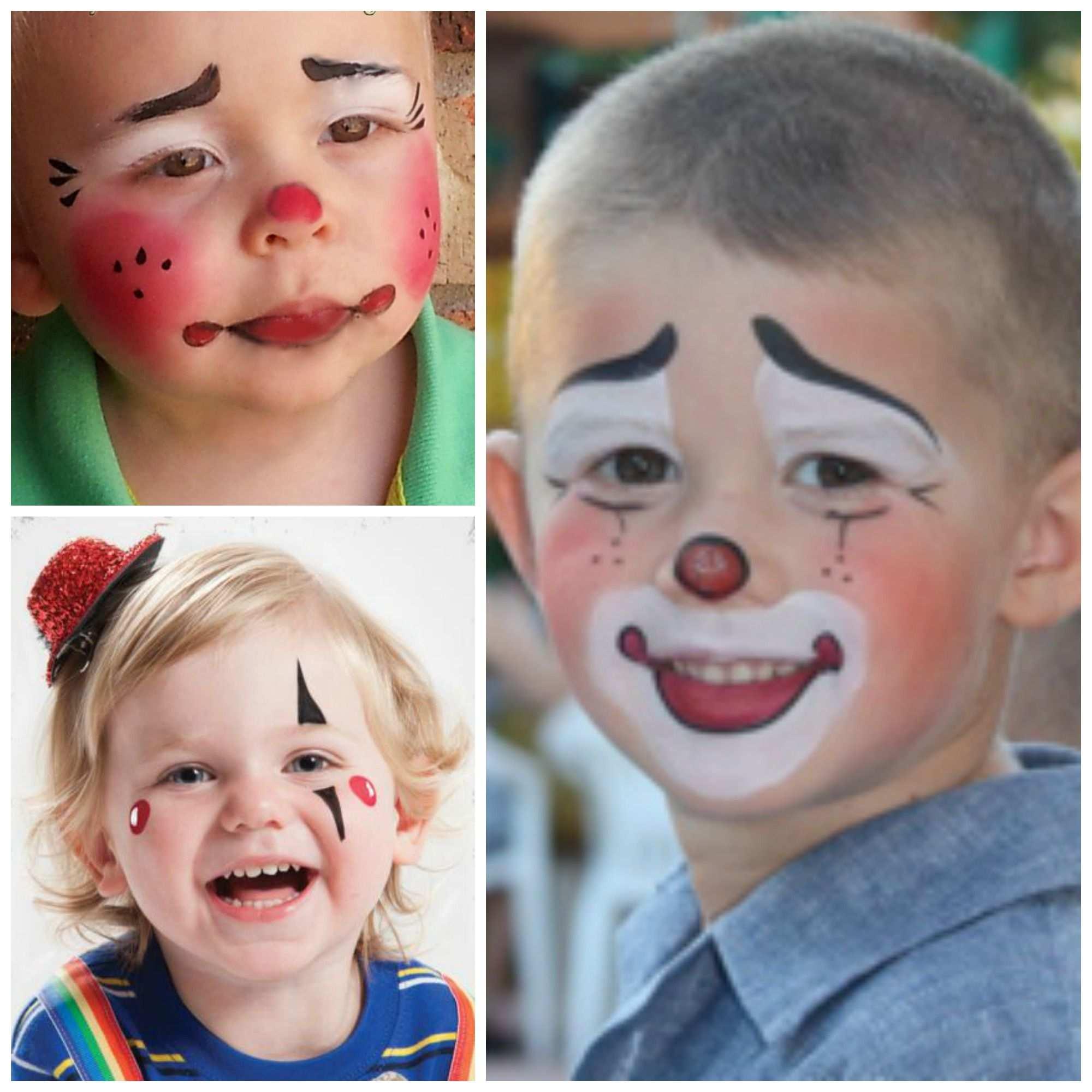 Kinderschminken Fur Kleinkinder 3 Vorlagen Fur Clowns Die Auch Den Ganz Kleinen Gefallen Kinder Schminken Kinderschminken Einfache Gesichtsmalerei