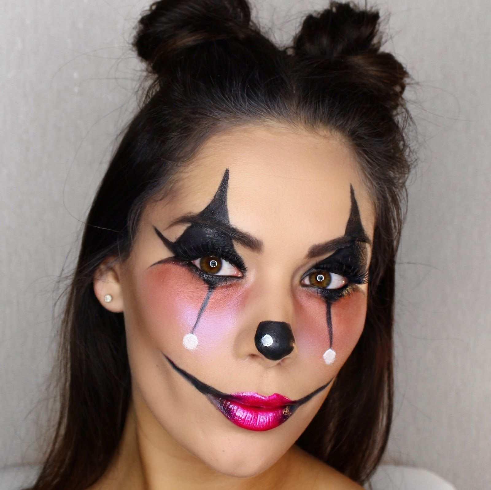 Fasching Make Up Im Letzten Moment Clown Schminken Anleitung Diy Fasching Zenideen Schminkzeug Halloween Makeup Make Up Augen