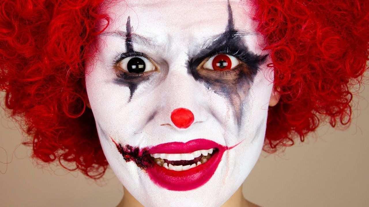 Fasching Make Up Im Letzten Moment Clown Schminken Anleitung Diy Fasching Zenideen Clown Schminken Frau Gruselige Clowns Fasching Makeup