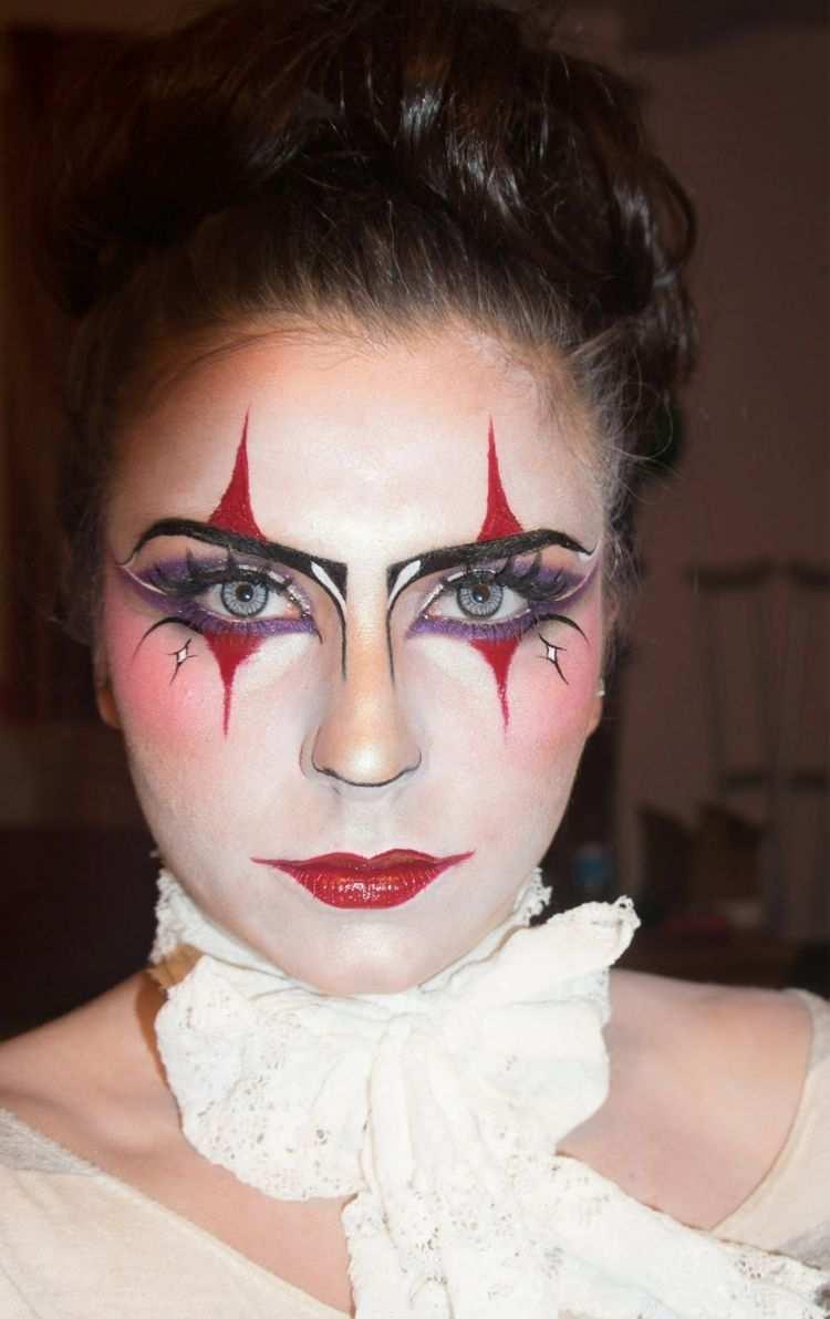 Pantomime Schminken Kreative Ideen In Bildern Fur Tolles Make Up Zu Halloween Und Karneval Clown Schminken Frau Karneval Schminken Fasching Schminken