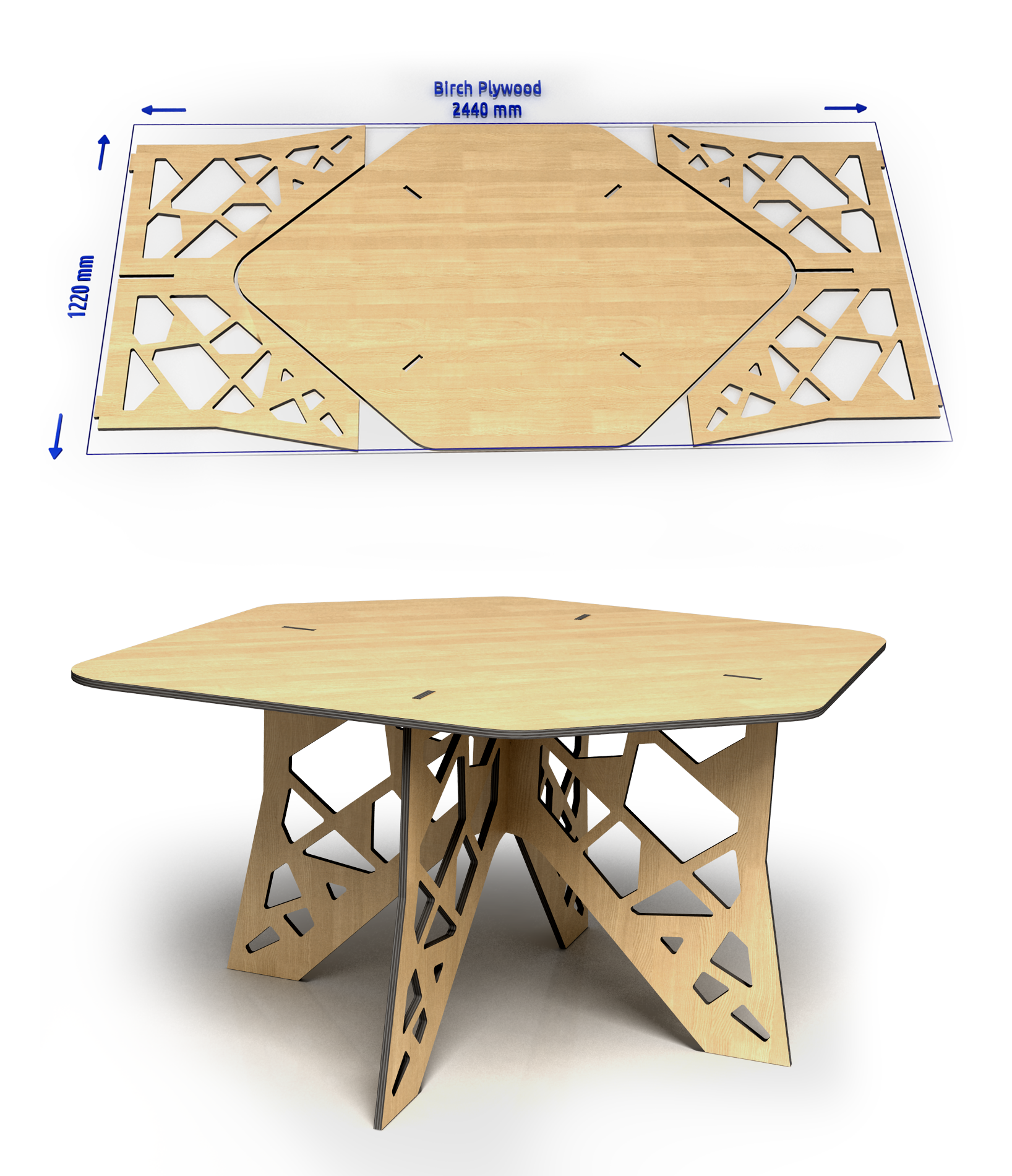 Birch Plywood Sheet To The Table Cnc Furniture Plans Plywood Furniture Cnc Furniture