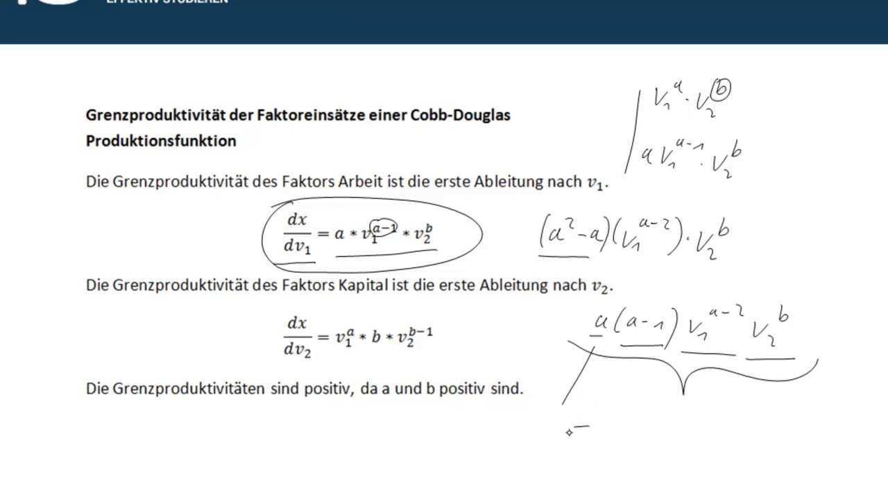 Cobb Douglas Produktionsfunktion Youtube