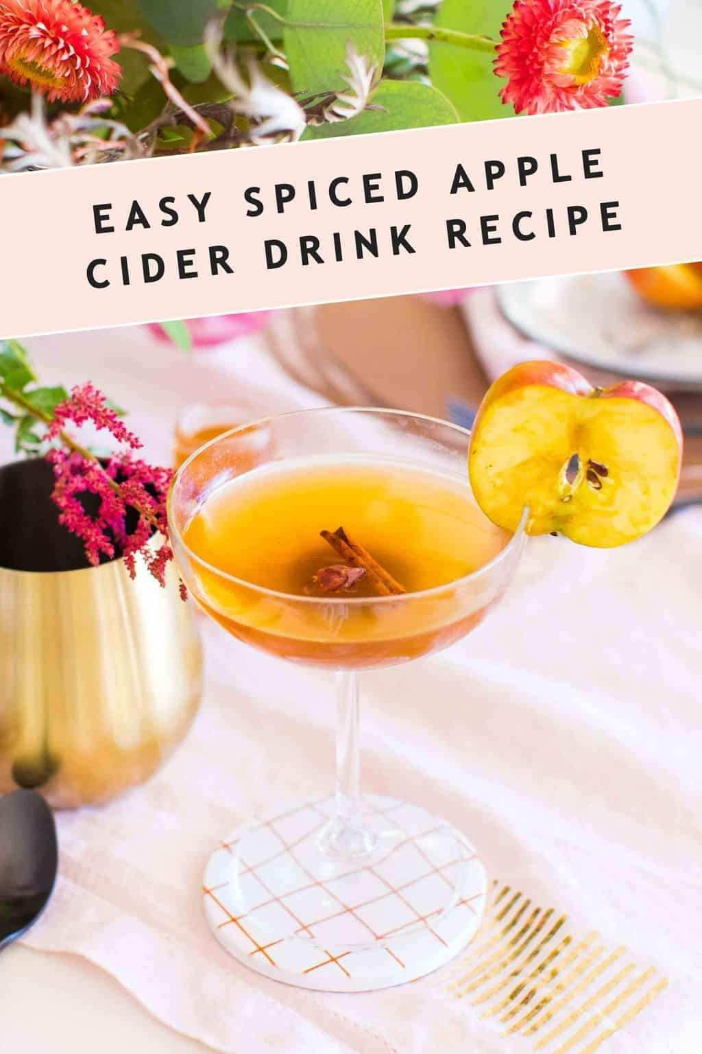 Serve This Easy Spiced Apple Cider Cocktail Or Mocktail Either Warm As A Spiced Drink Or Chilled As A Refreshing Punch It S A Delicious Wa In 2020 Herzlich Willkommen