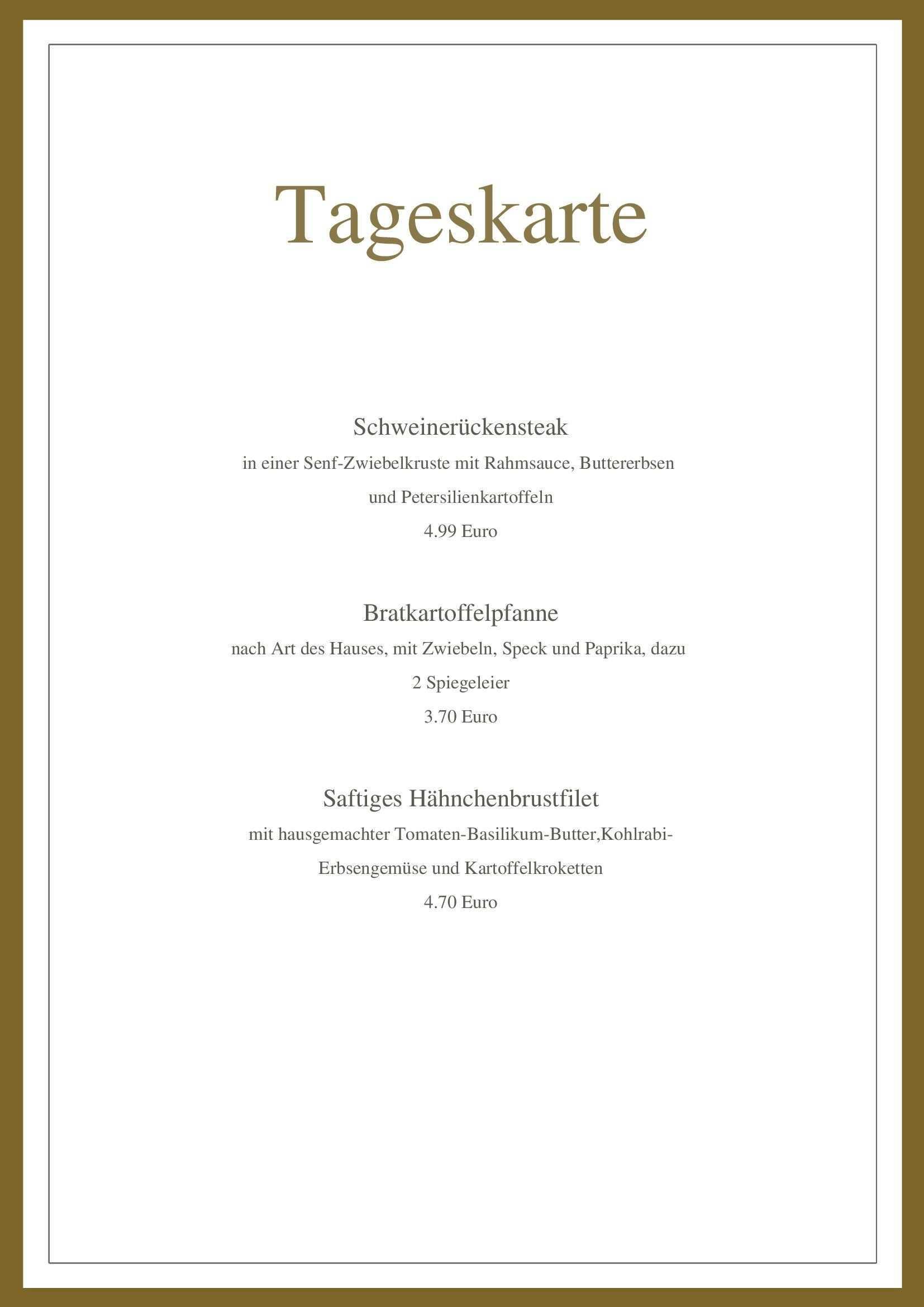 Free Restaurant Von Chris Auf 365layouts Speisekarte Menu Vorlage Rahmsauce