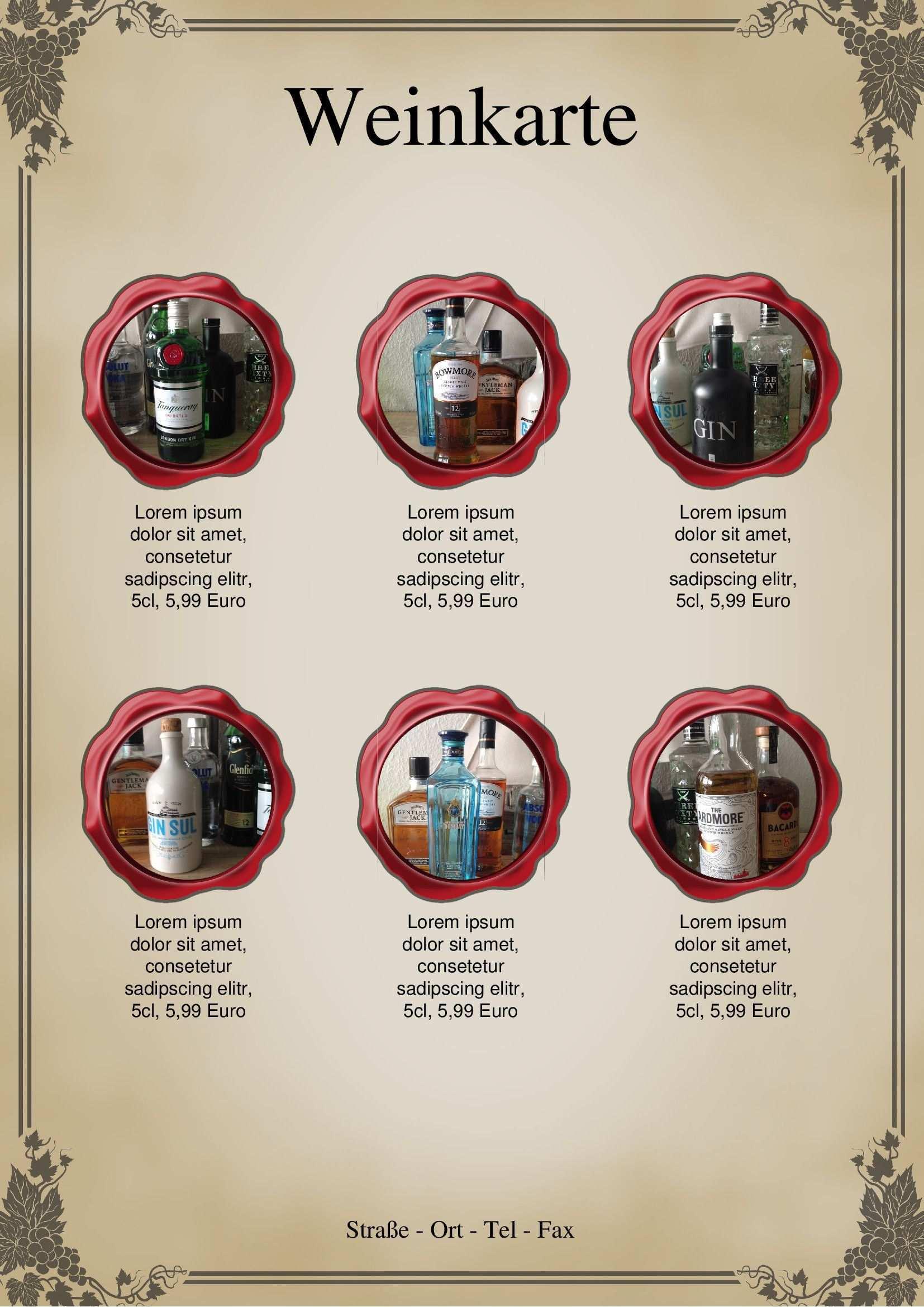 Weinkarte Vorlage Von Chris Auf 365layouts Weinkarte Speisekarte Karten