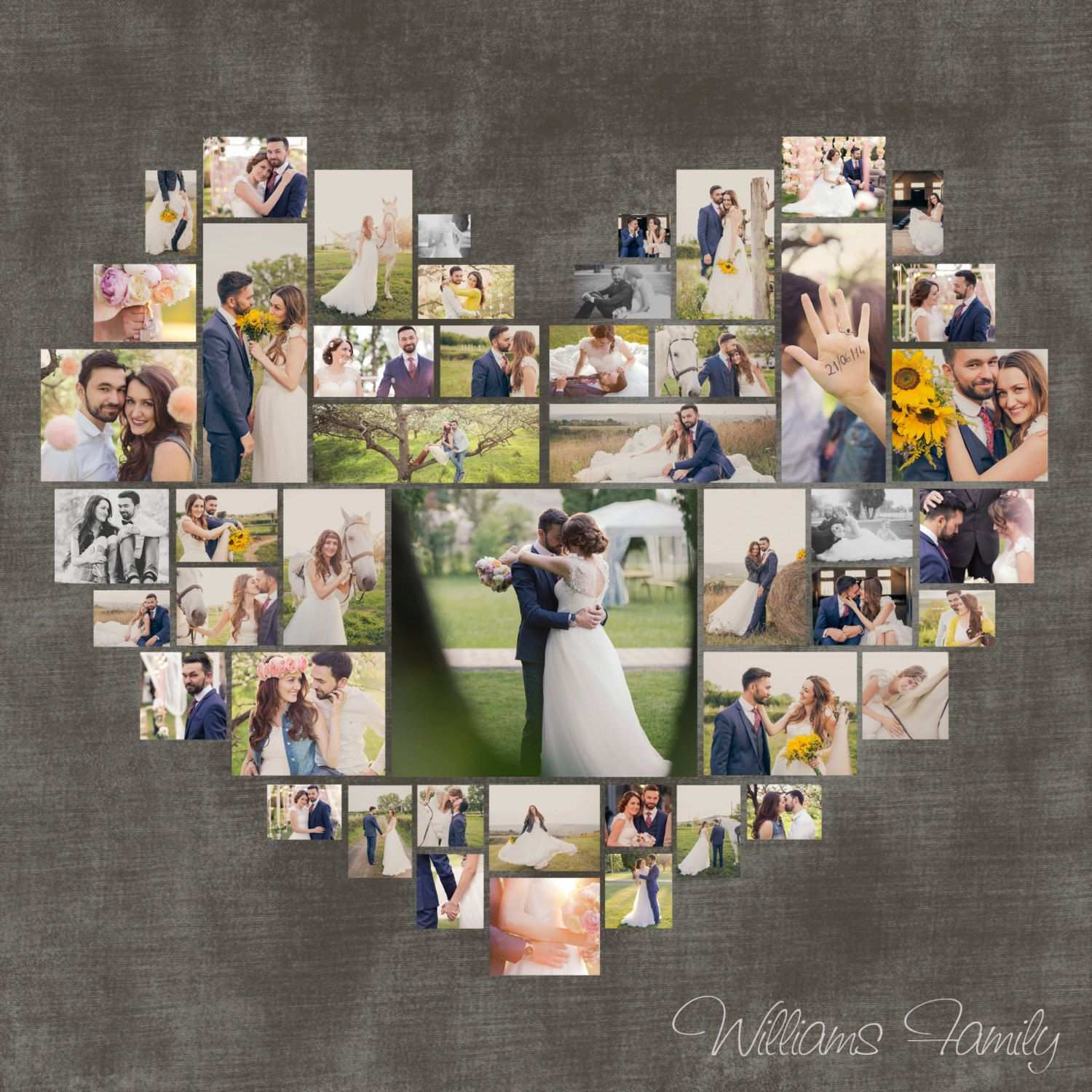 Heart Photo Collage Template Psd Wedding Gift Anniversary Etsy Heart Photo Collage Photo Heart Photo Collage Template