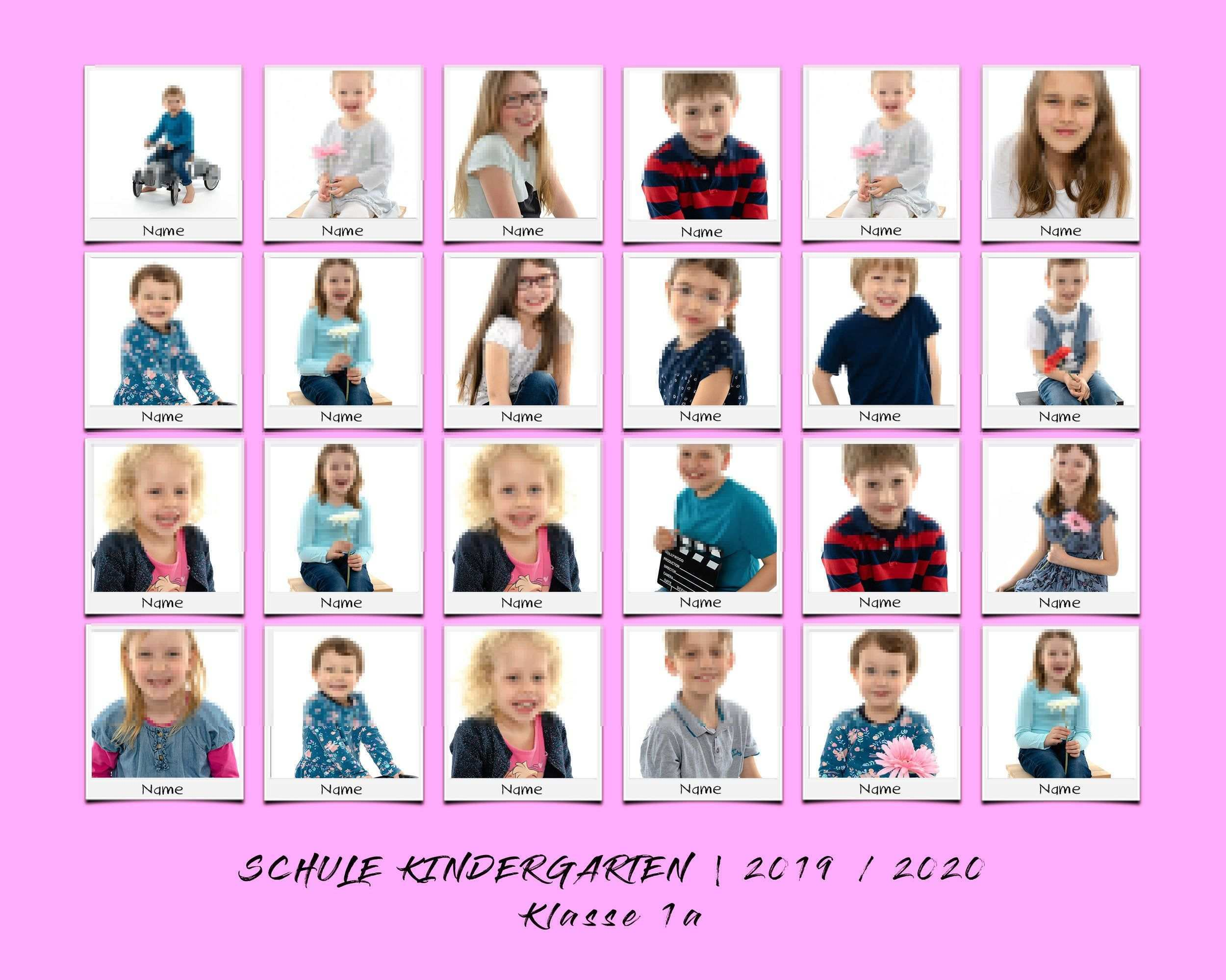 Custom Class Photo Collage Template For School Kindergarten Classroom Layered Psd File 8x10 3 2 In Polaroid Style Instant Download Photo Collage Template School Photography Collage Template