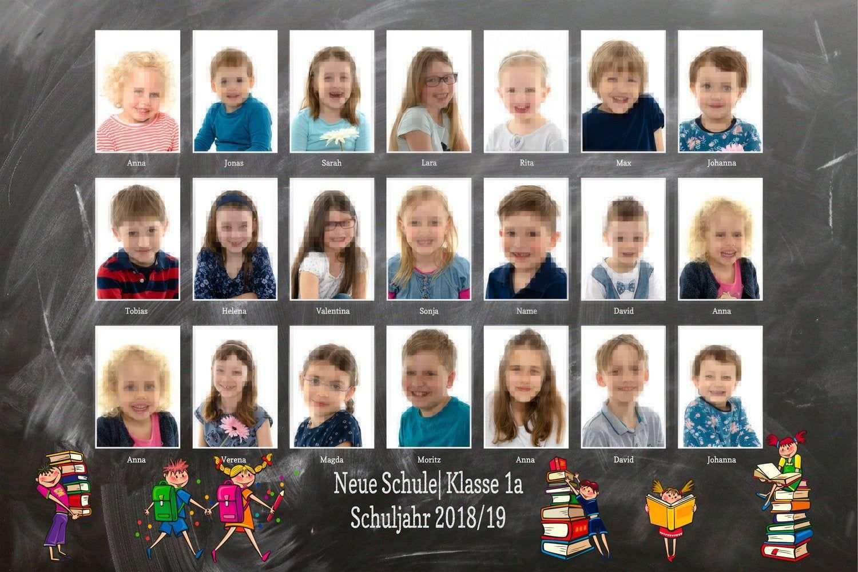 Custom Class Photo Collage Template For School Kindergarten Classroom Layered Psd File Yearbook 8x10 3 2 Instant Download Preschool Graduation Kindergarten Graduation School Photography