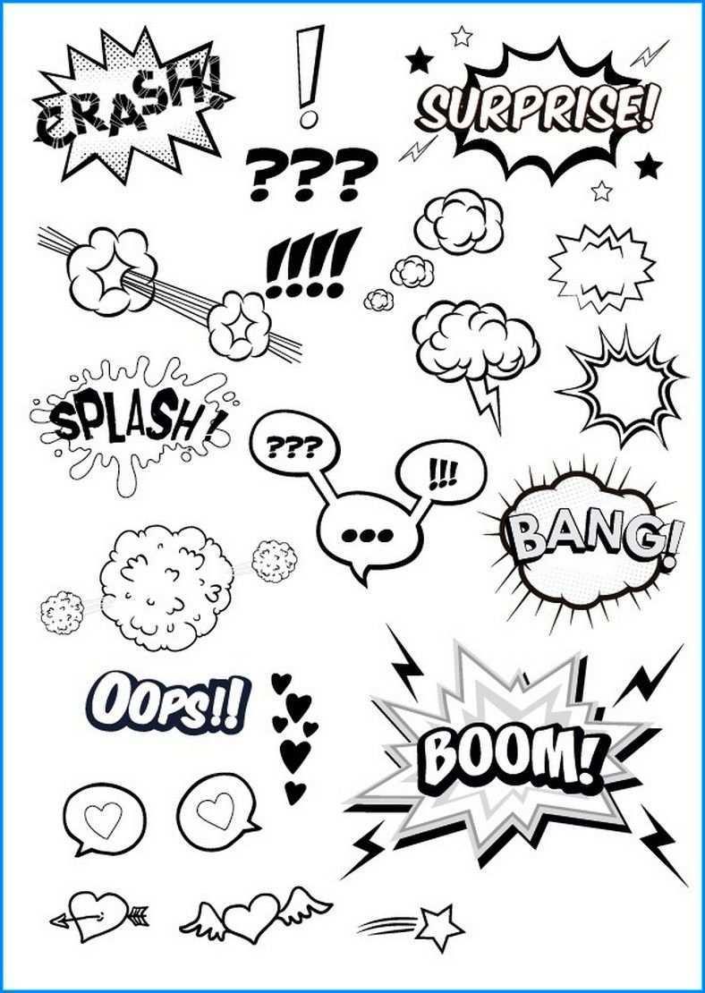 Leere Sprechblasen Zum Ausdrucken Comic Zeichnen Lernen Sprechblase Skizze Notizen