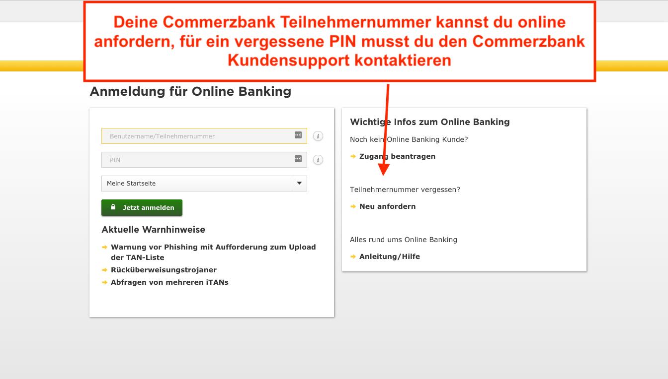 Commerzbank Login Direkt Zum Finanz Login Der Commerzbank