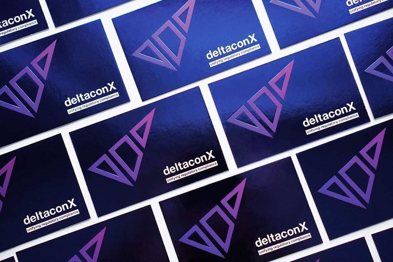 Corporate Design Deltaconx Visitenkarten Design Corporate Design Logo Design