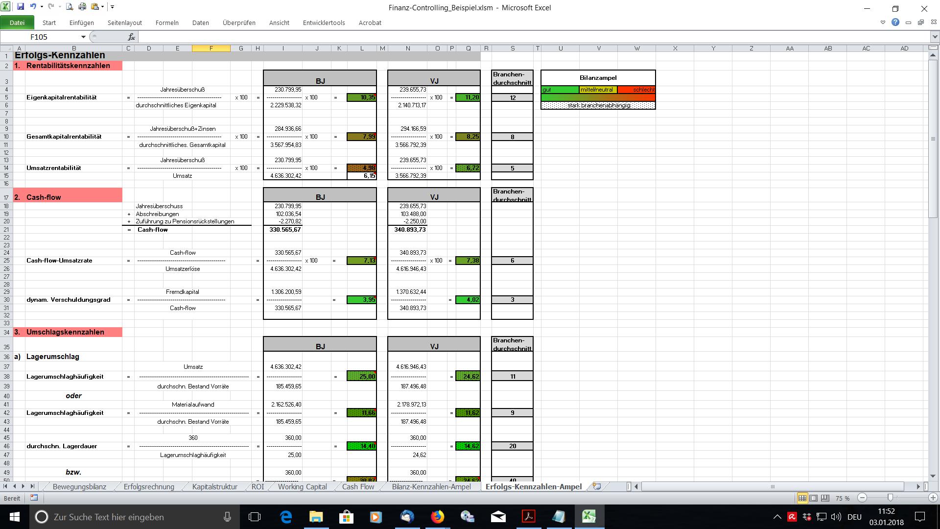 Excel Tool Finanz Controlling Fur Kleine Und Mittlere Unternehmen