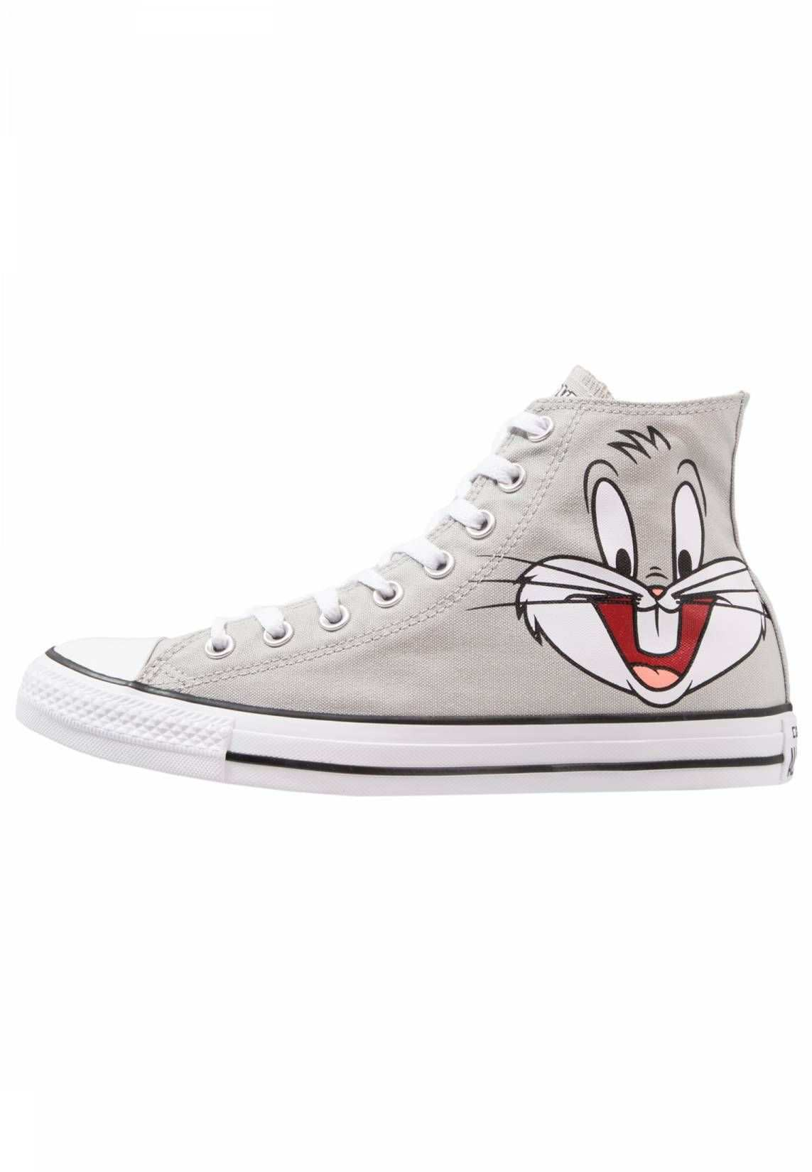 Converse Chuck Tailor All Star Hi Sneaker High Looney Tunes Bugs Bunny Sohle Kunststoff Decksohle Textil Innenmaterial Converse Sneaker High Sneaker