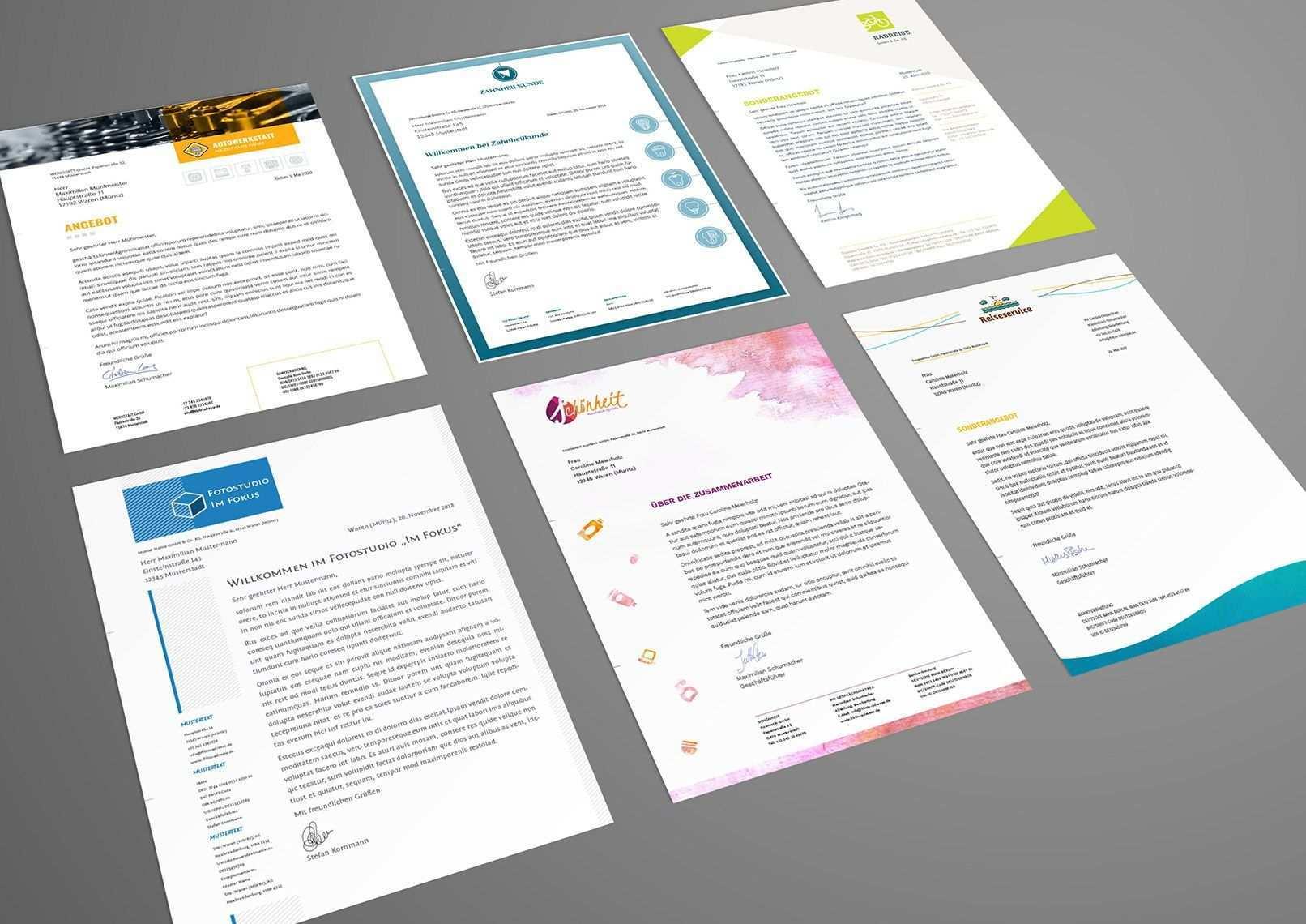Briefpapier Designs Fur Word Indesign Und Coreldraw Briefpapier Briefpapier Design Briefpapier Vorlage