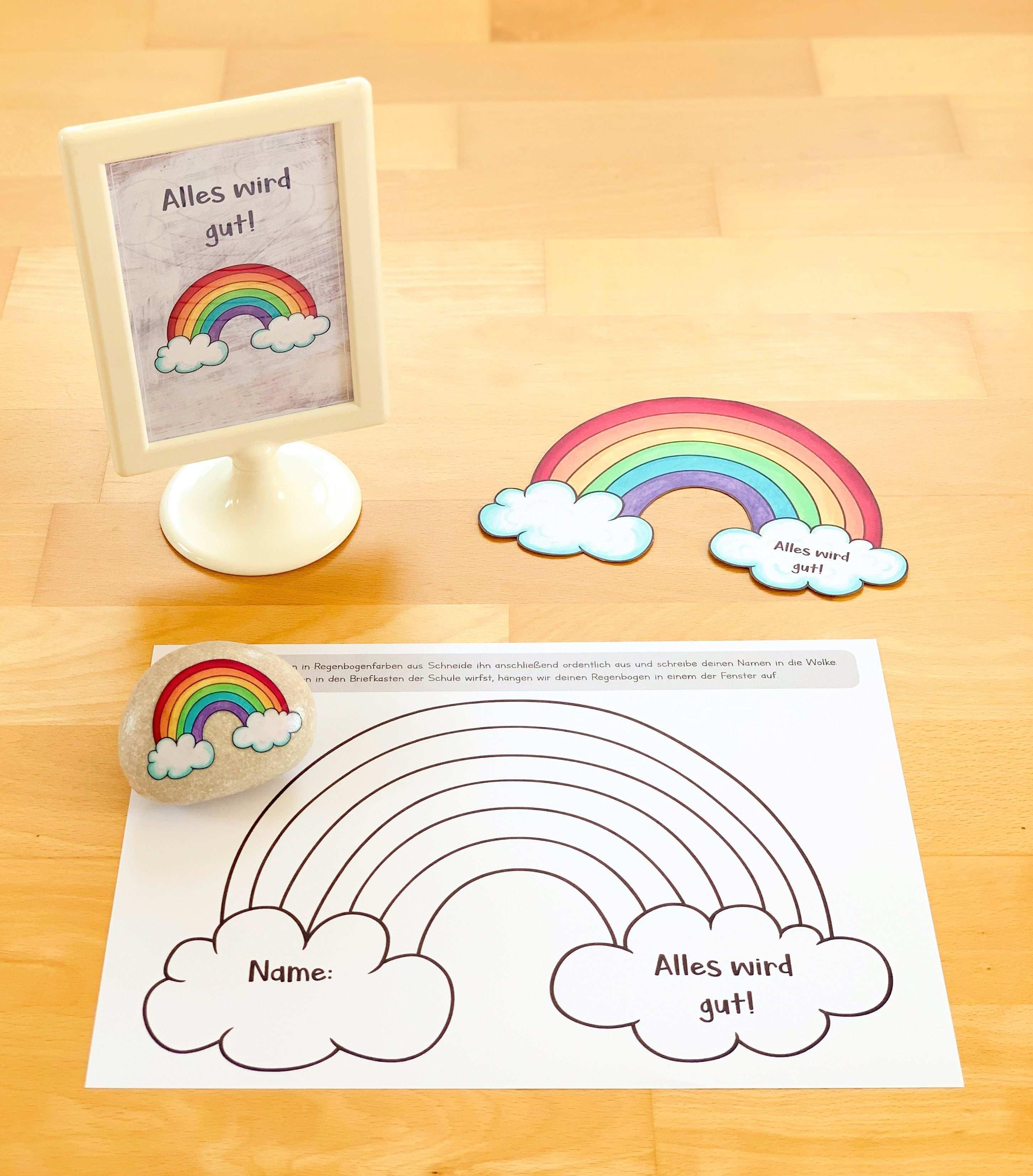 Alles Wird Gut Regenbogen Gegen Corona Grundschule Klassenzimmer Gestalten Grundschule Kunstunterricht