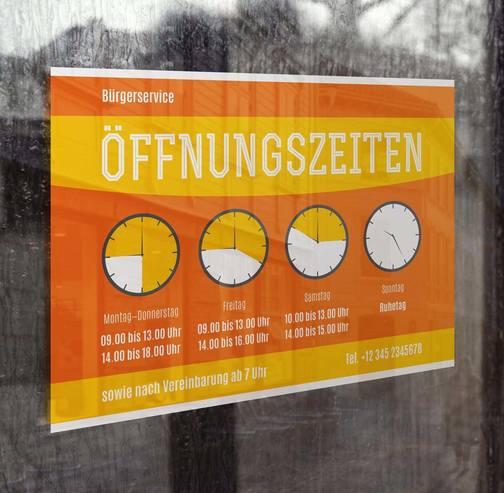 Offnungszeiten Vorlagen Fur Schild Aushang Vorlagen Schilder Corporate Design