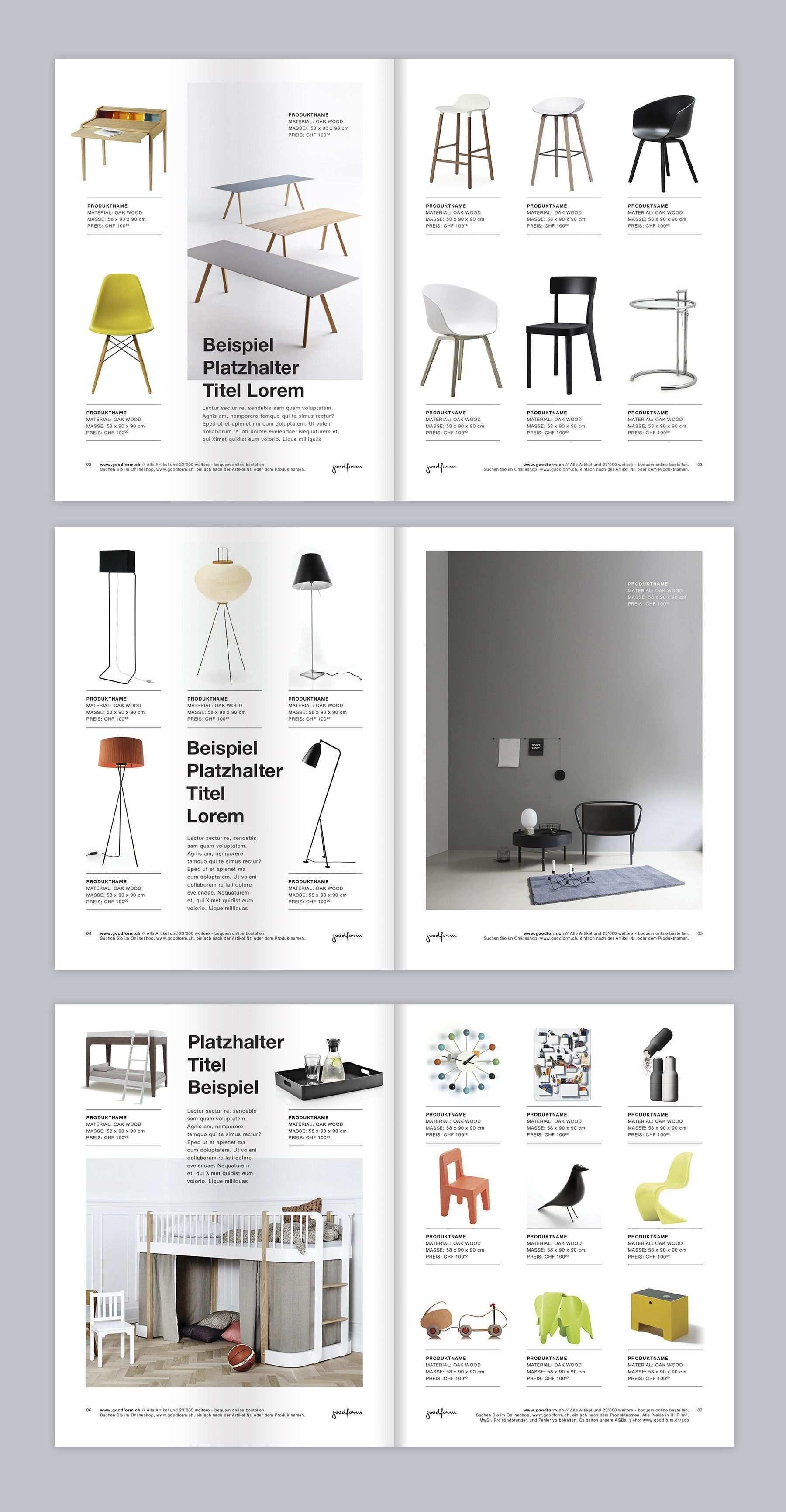 Brochure Catalog Minimalist Style Layout For Furniture Store 99designs Desain Desain Katalog Interior