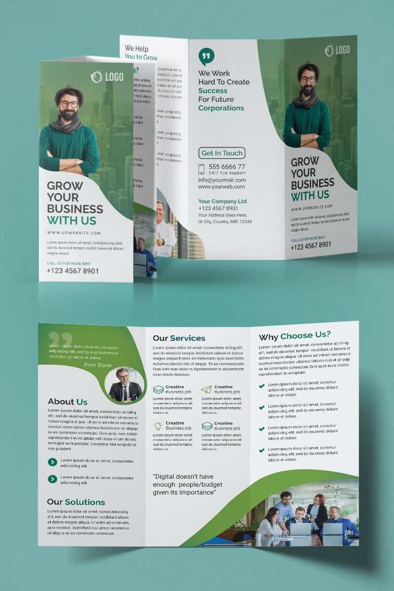 Trifold Brochure Design Corporate Identity Template 95552 Ad Design Corporate Trifold In 2020 Company Brochure Design Brochure Design Template Trifold Brochure