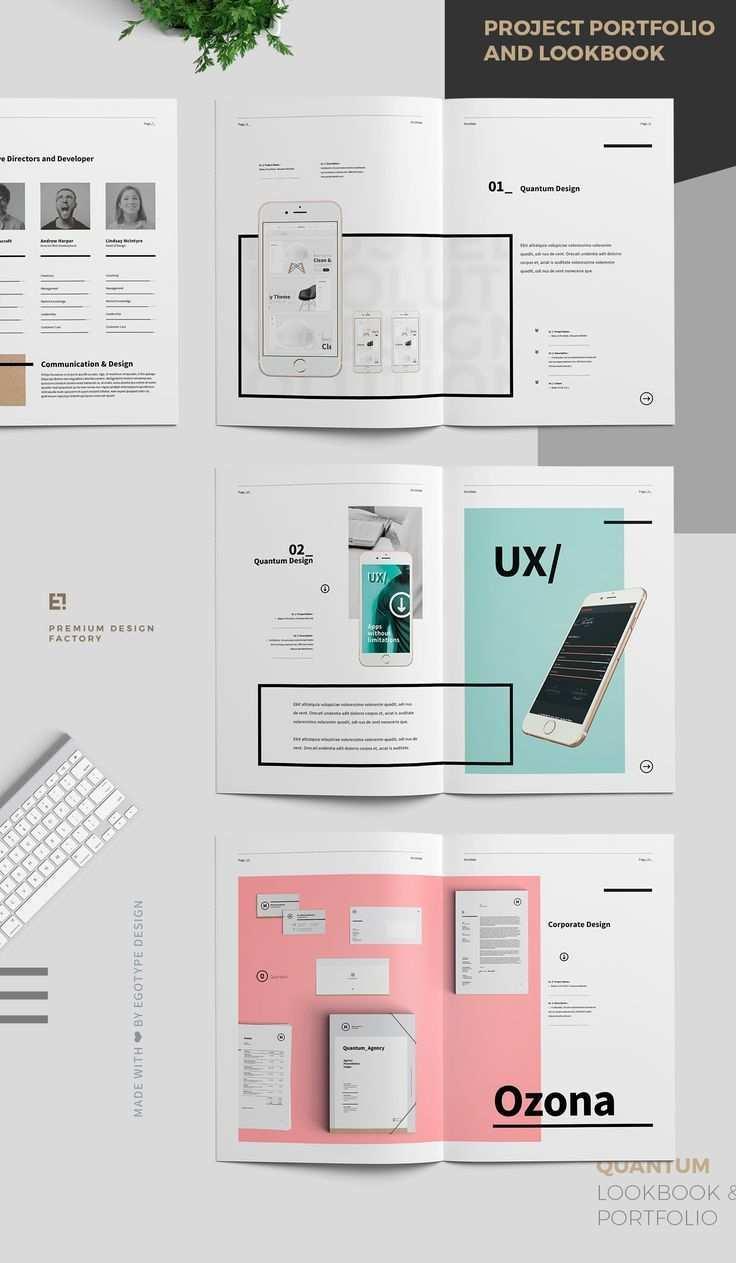 Project And Design Portfolio Templateminimal And Professional Work Graphic Design Portfolio Layout Graphic Design Portfolio Examples Portfolio Template Design