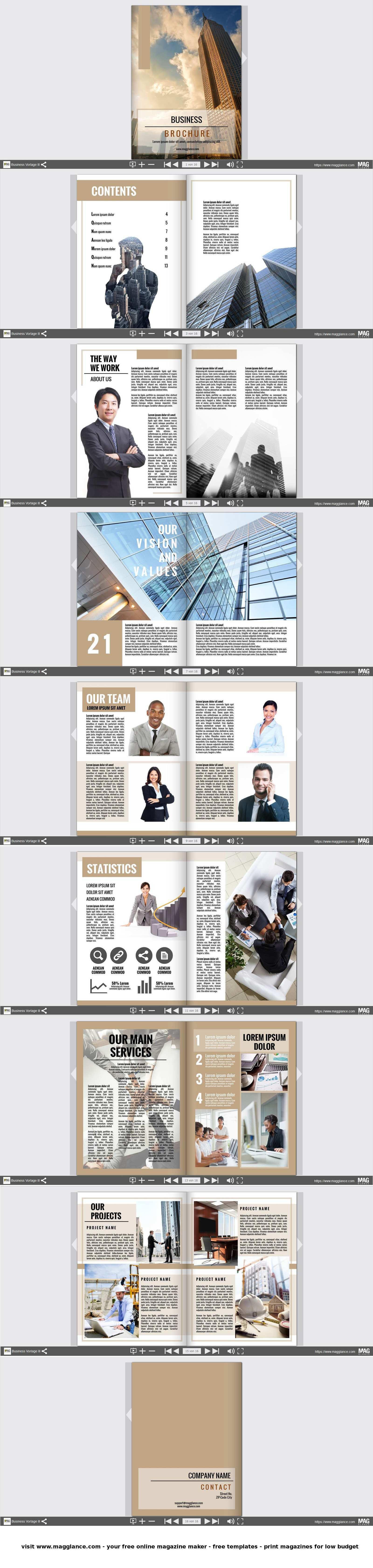 Business Broschure Kostenlos Online Erstellen Und Gunstig Drucken Unter De Magglance Com Broschure Firmenzeitung Broschure Broschure Design Broschure Vorlage