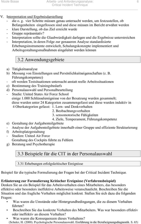 Arbeits Und Anforderungsanalyse Critical Incident Technique Pdf Kostenfreier Download
