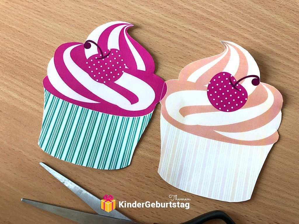 Muffin Einladung Selbst Basteln Vorlagen Zum Ausdrucken Einladung Kindergeburtstag Basteln Vorlagen Einladungskarten Kindergeburtstag Einladungen Selber Basteln