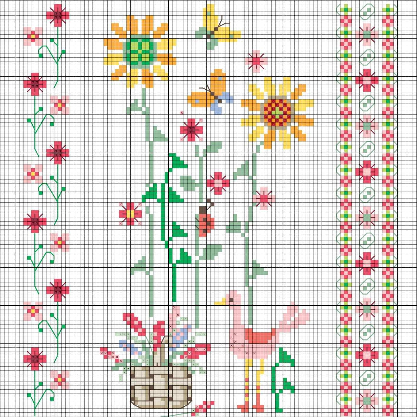 Fruhlings Blumen Sticken Entdecke Zahlreiche Kostenlose Charts Zum Sticken Kreuzstich Vogel Sticken Kreuzstich