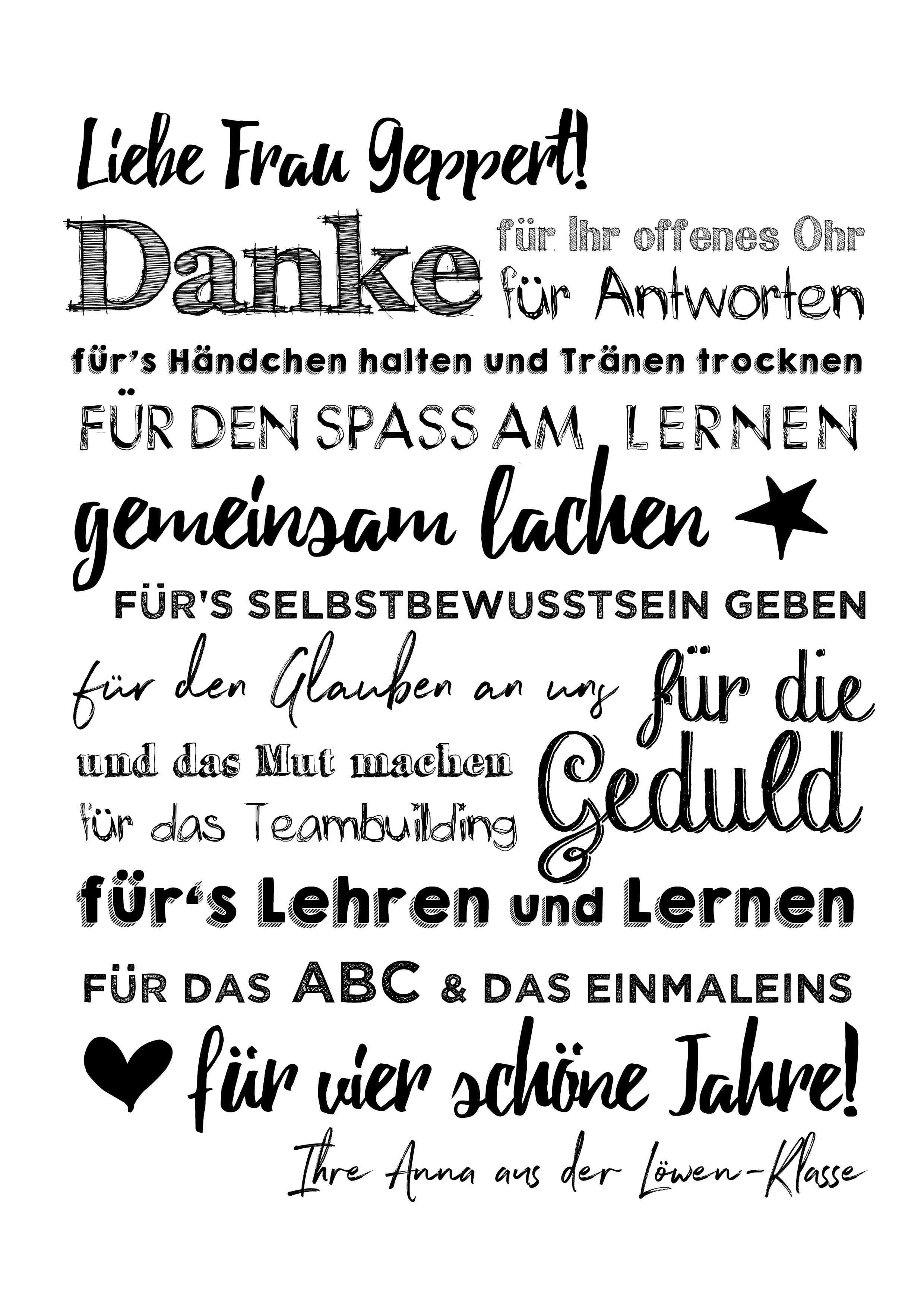 Poster Danke Fur Lehrer Abschiedsgeschenk Lehrer Gedicht Fur Lehrerin Geschenke Zum Abschied