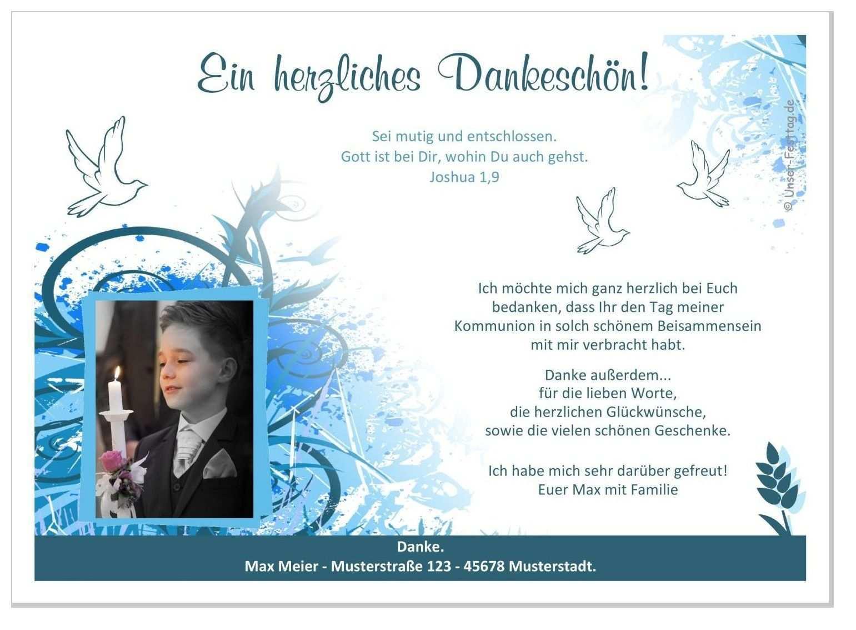 Danksagungen Kommunion Jungen Bunte Kringel Danksagung Kommunion Kommunion Dankeskarte Kommunion