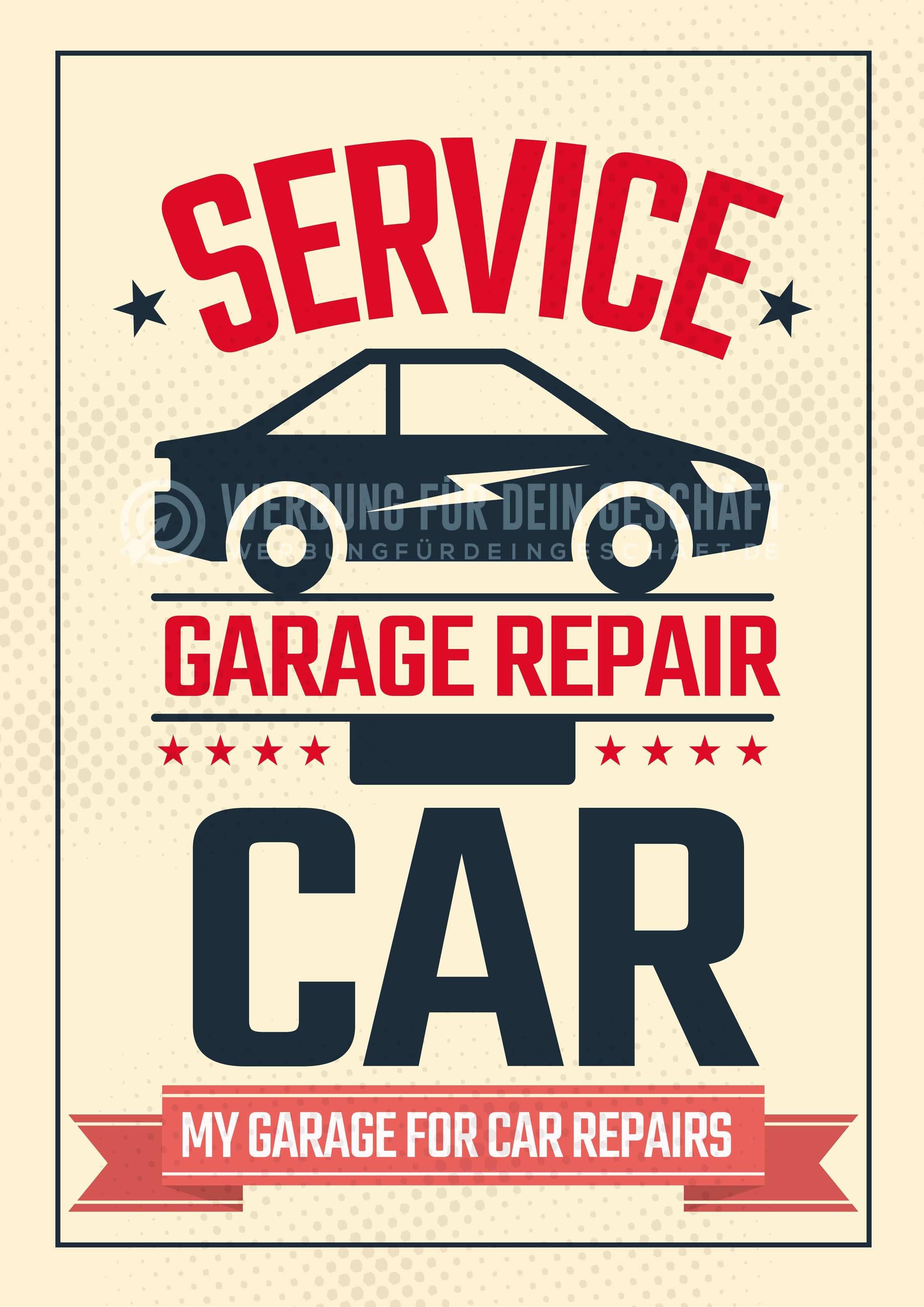Dieses Poster Garage Repair Kann Fur Eure Werbung Eingesetzt Werden Als Werbeposter Ist Es Ideal Fur Die Verwendung In E Autowerkstatt Kfz Werkstatt Reparatur