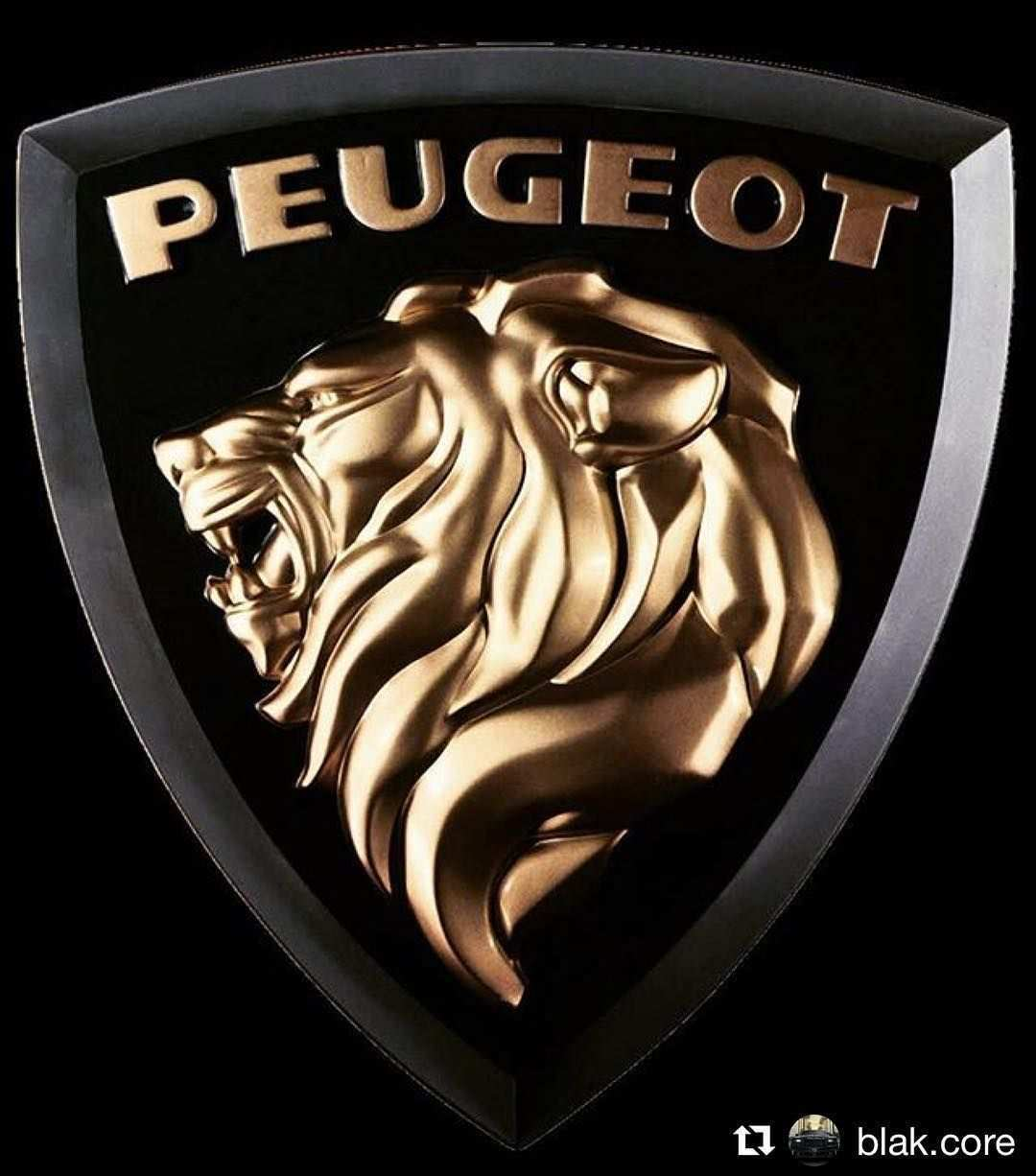 Step Back In The Past With This Great Black And Gold Peugeot Logo From 1960 Peugeot Regram 1960 Logo Black Gold Peugeot Luxury Car Logos Car Logos