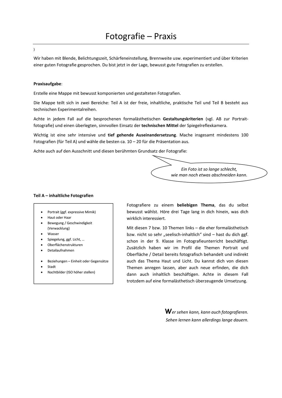 Fotografie Praxisaufgabe Profil Unterrichtsmaterial Im Fach Kunst Fotografie Farbenlehre Farben Lehre
