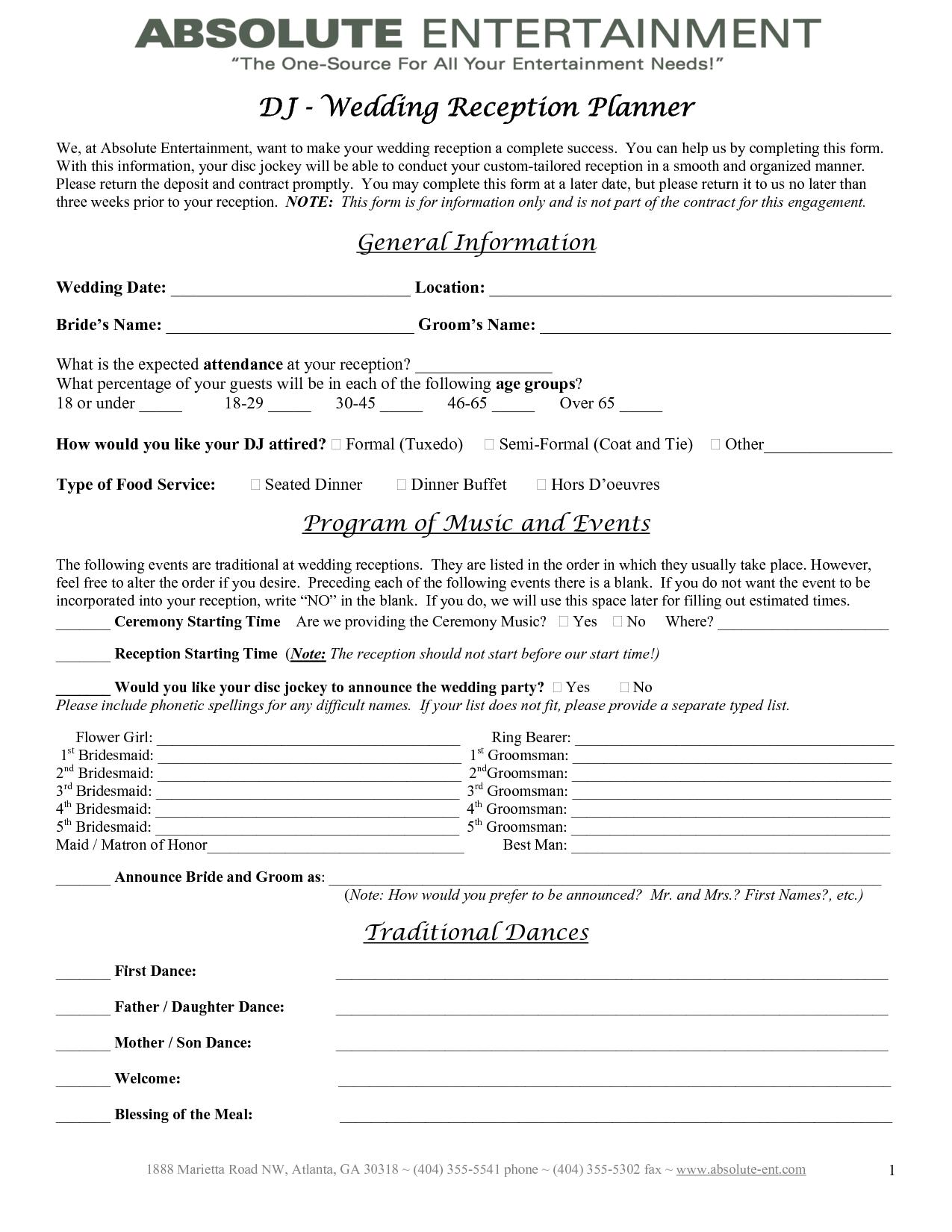 Wedding Planner Contract Template Hochzeitserinnerung Hochzeitsplanung Checkliste Hochzeit