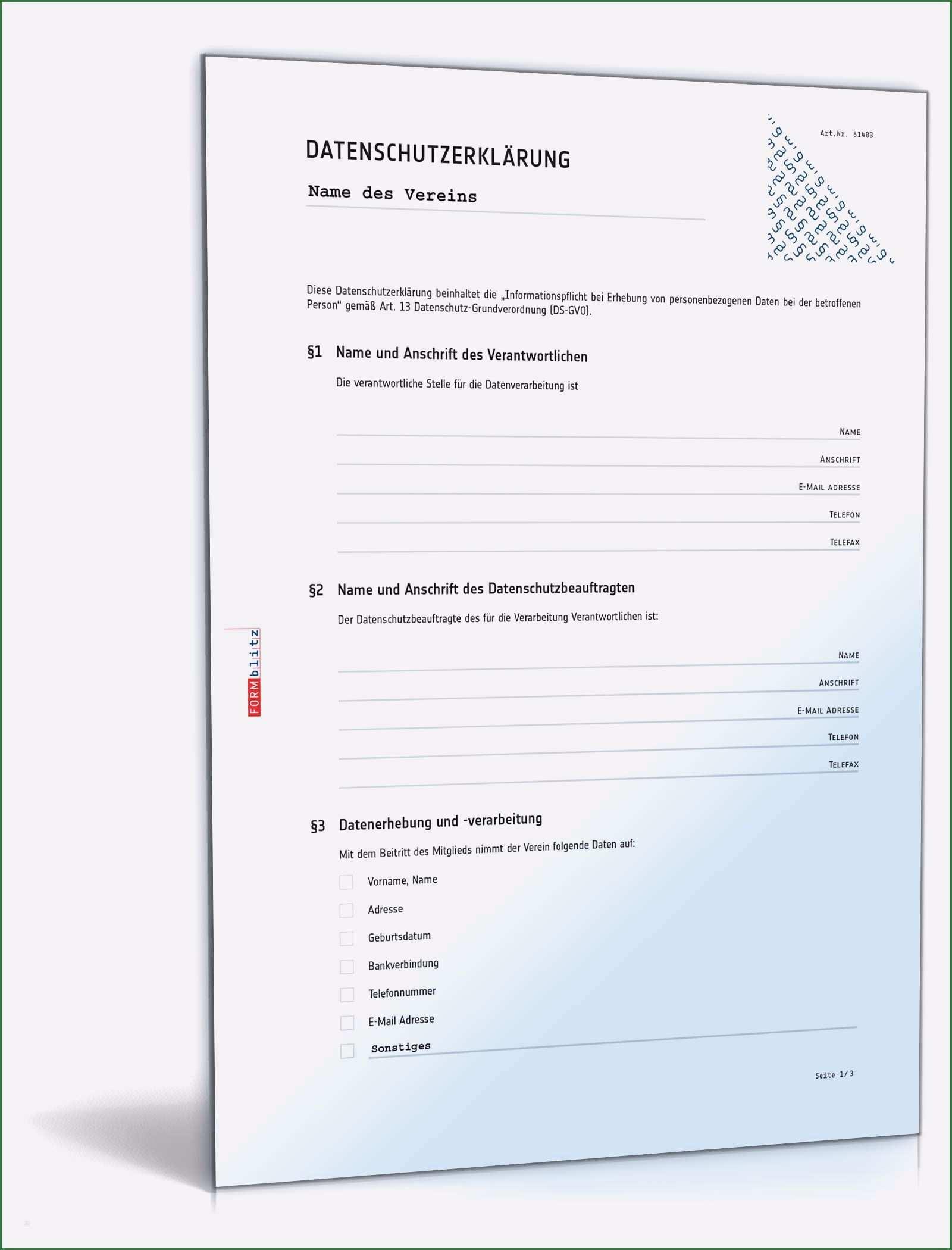 Datenschutzerklaerung Muster Ihk