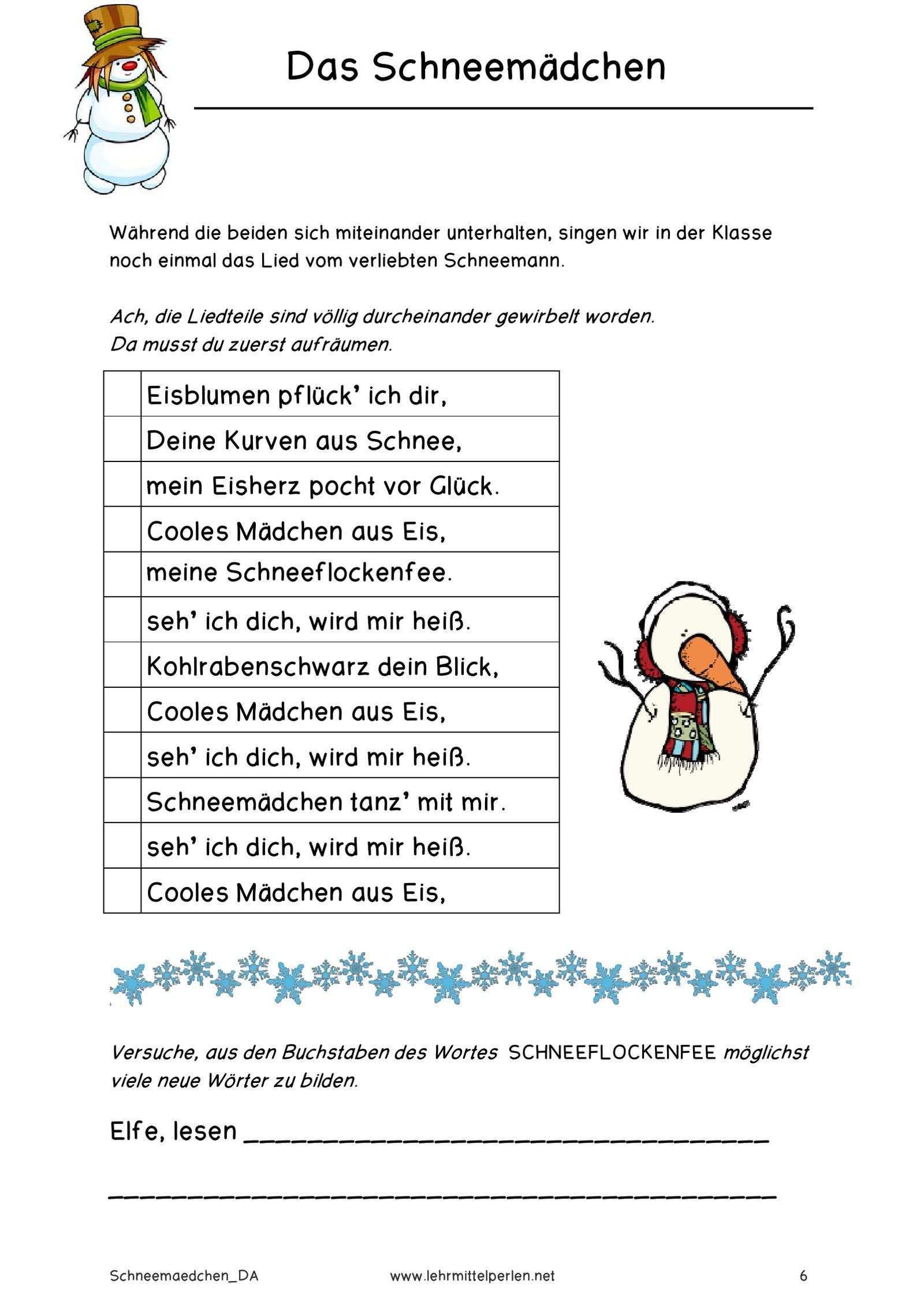 Das Schneemadchen Pdf To Flipbook Daumenkino Geschichten Fur Kinder Traurige Geschichten