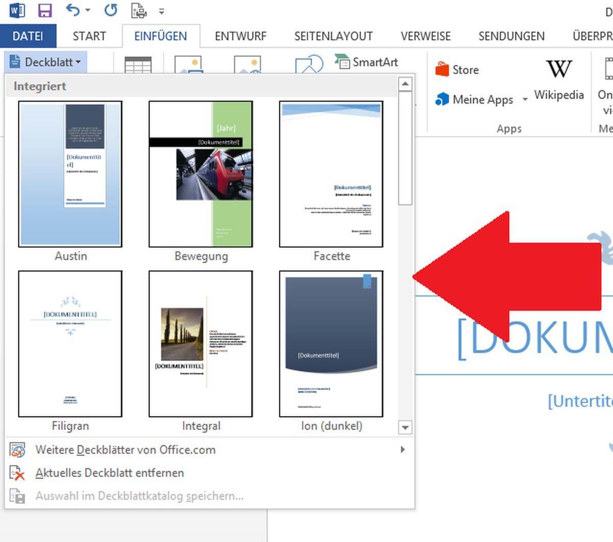 Word Deckblatt Erstellen So Funktioniert S Chip