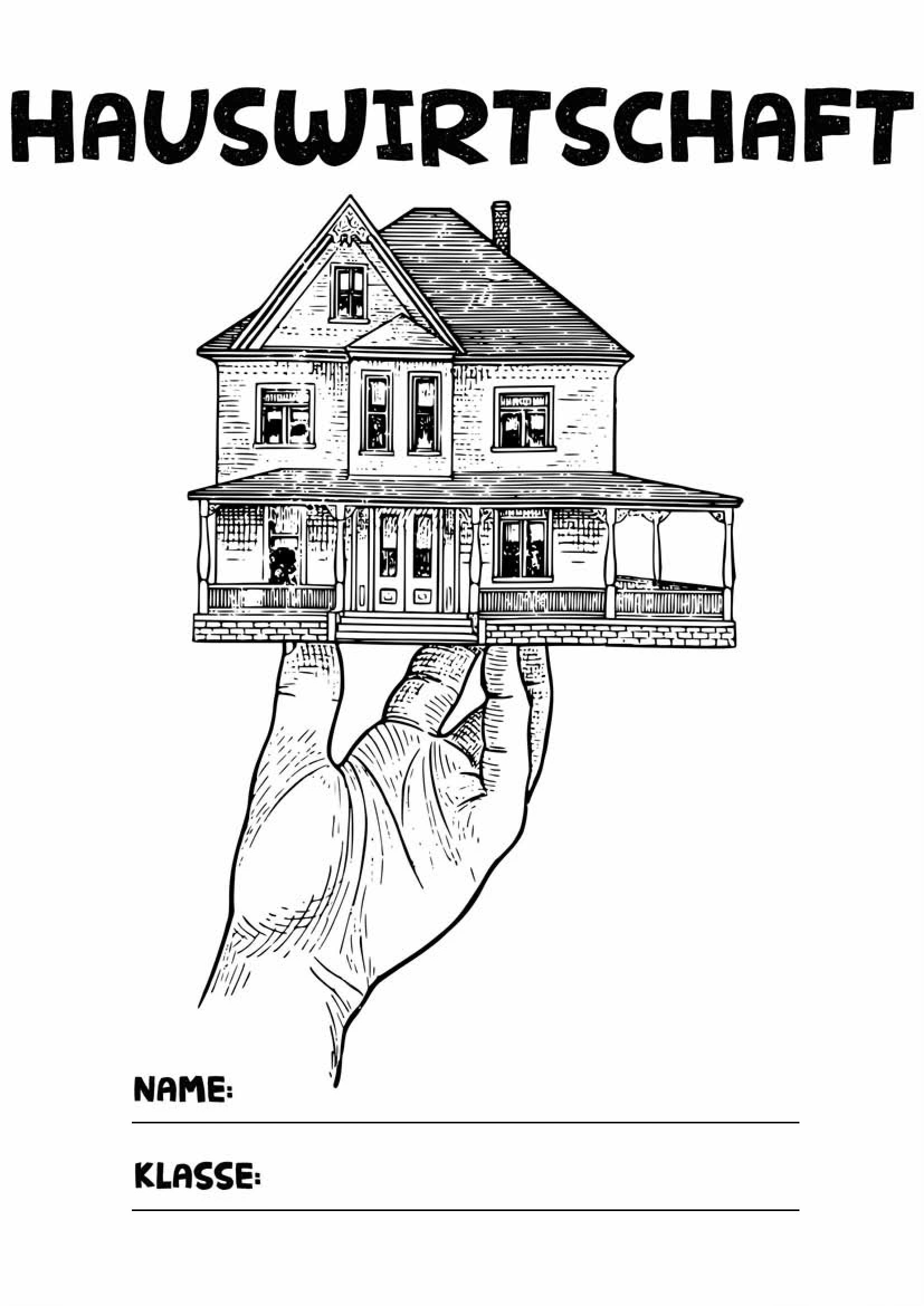 Deckblatt Hauswirtschaft 1 Hauswirtschaft Deckblatt Deckblatt Schule