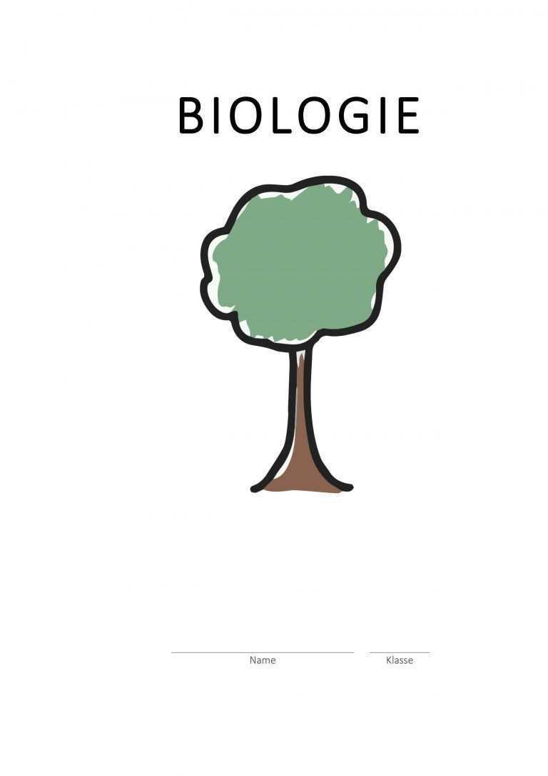 Deckblatt Biologie Baum Biologie Deckblatt Deckblatt Schule