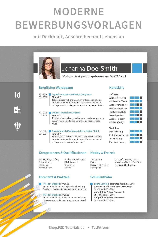 Moderne Bewerbungsvorlagen Herunterladen Word Indesign Deckblatt Vorlage Vorlagen Word Deckblatt