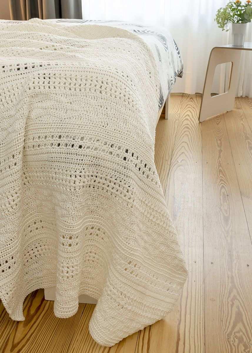 Decke Ranveig S10674 Decke Hakeln Wellenmuster Decke