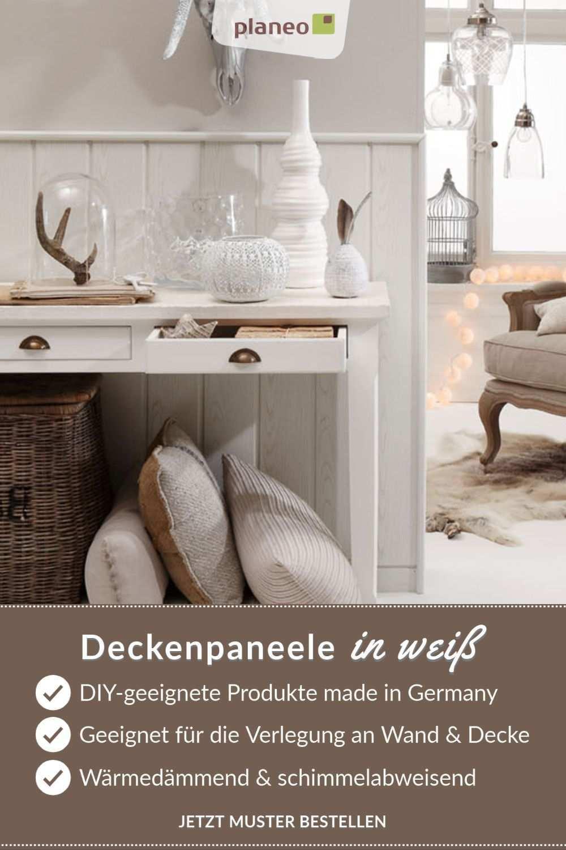 Deckenpaneele In Weiss Langlebige Qualitat Made In Germany Deckenpaneele Decke Wandverkleidung