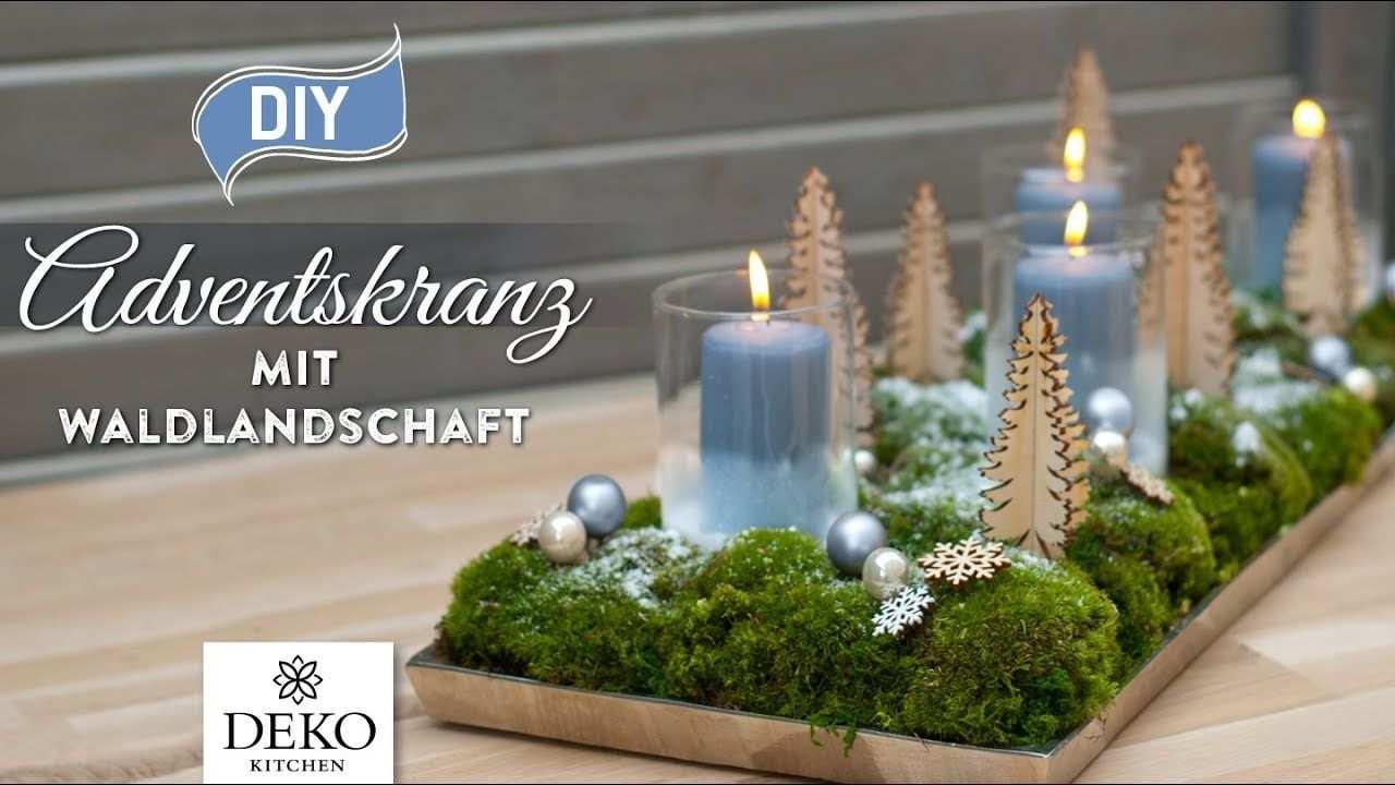 Diy Weihnachtsdeko Adventskranz Mit Susser Waldlandschaft How To Deko Wunderschone Weihnachtsdeko Adventskranz Weihnachtsdeko Deko