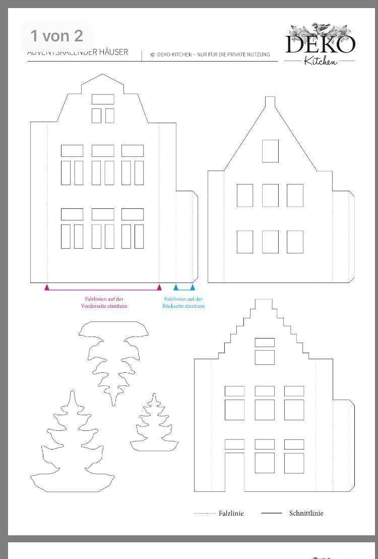 Pin Von Rita Muller Auf Weihnachten Adventskalender Hauschen Deko Bastelei