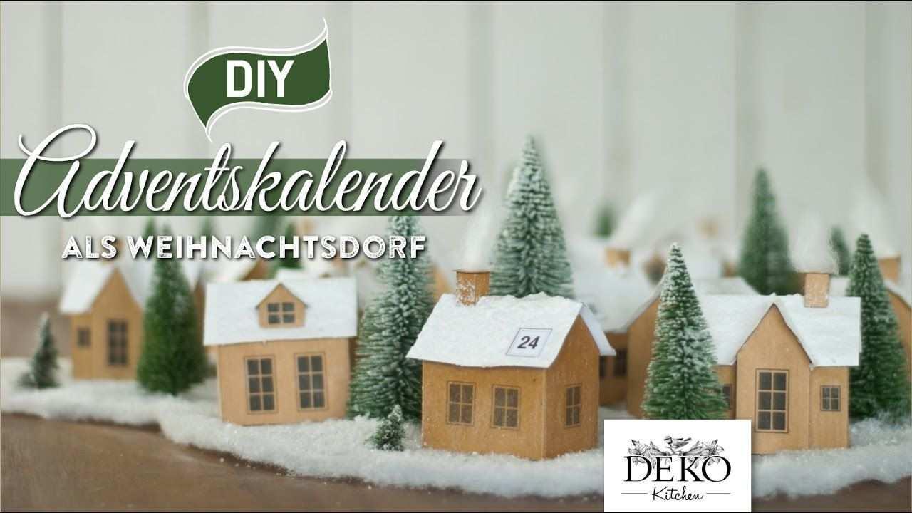 Diy Adventskalender Weihnachtsdorf Aus Papier Selber Machen How To Adventkalender Weihnachtsdorf Weihnachten Basteln Vorlagen